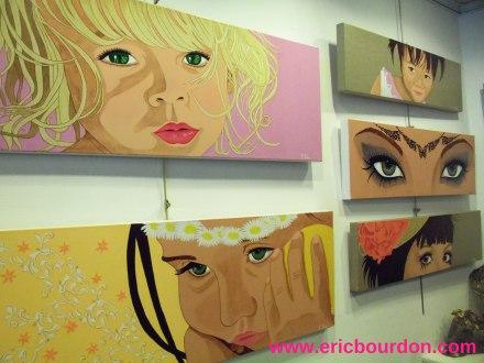 Virginie Fiers peintures yeux Galerie Schèmes Lille