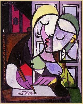 Pablo Picasso femme écrivant