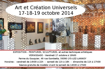 exposition art creation lys lez lannoy eric bourdon