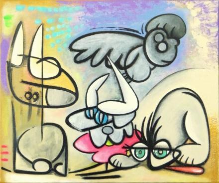 Traversée du désert Eric Bourdon tableau toile