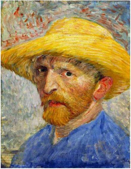 Vincent van Gogh Autoportrait au chapeau de paille