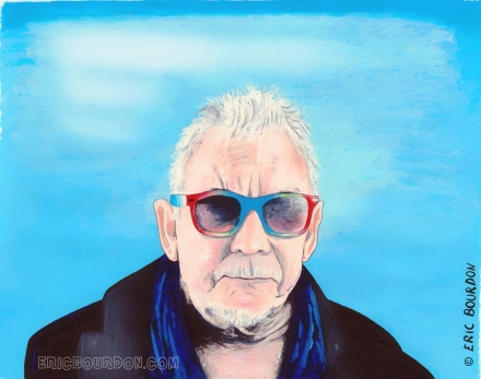 eric burdon portrait à l'aquarelle par eric bourdon