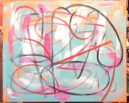 lignes libres toile eric bourdon