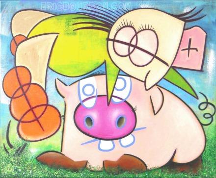 saute-cochon tableau peinture eric bourdon 440