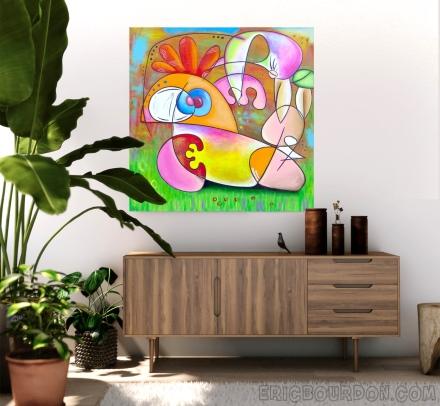 acheter tableau peintre contemporain eric bourdon
