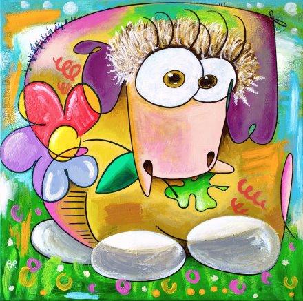 mouton couleur galerie peintre eric bourdon