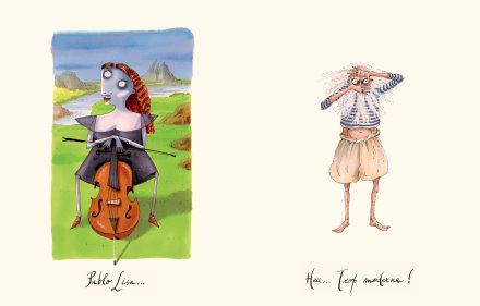 le casting de léonard de vinci la joconde pablo picasso illustrations nathalie vessié hodges