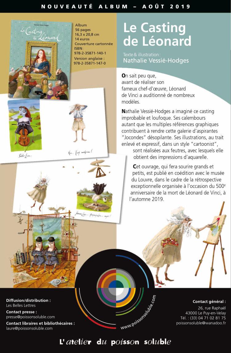Le Casting De Leonard De Vinci Livre D Illustration