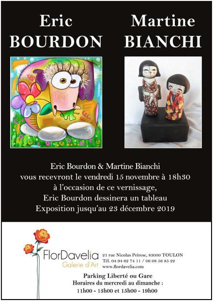 toulon exposition flordavelia galerie eric bourdon martine bianchi