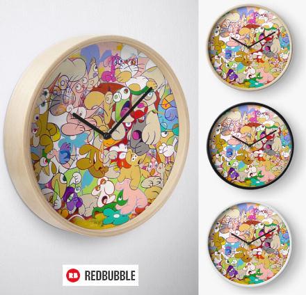 Horloge LOST designée par le peintre français Eric Bourdon