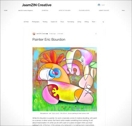 Le peintre Eric Bourdon sur JaamZIN Creative à Singapour !
