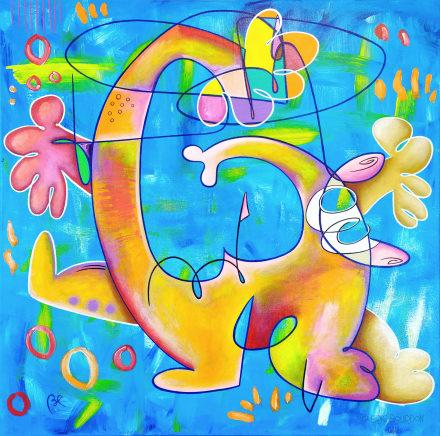 burnout expressionnisme peinture sur toile eric bourdon